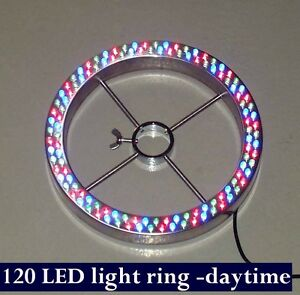 120 Led Large Fountain Light Ring Multi Color Red Blue