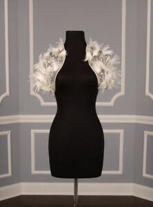 AUTHENTIC-Badgley-Mischka-Kildare-Ivory-Tulle-Couture-Bridal-Formal-Bolero-NEW