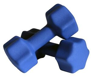 1-Pair-Blue-Neoprene-Coated-Dumbbells-25-lbs-each-Free-Shipping