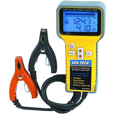Digital Automotive Battery Analyzer Easy Check Voltage CCA Resistance etc.66892