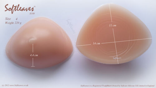 Softleaves C100 Silicone Breast Enhancers Breast Forms Bra Inserts Push up Bra