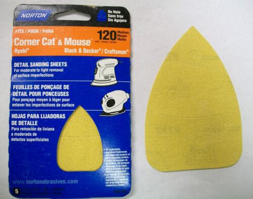 Corner Cat /& Mouse Multi-Tool Detail Sanding Sheets Norton 50 Sheets