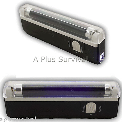 Portable UV Ultra Violet Blacklight Flashlight Hunting ID Check Clubs