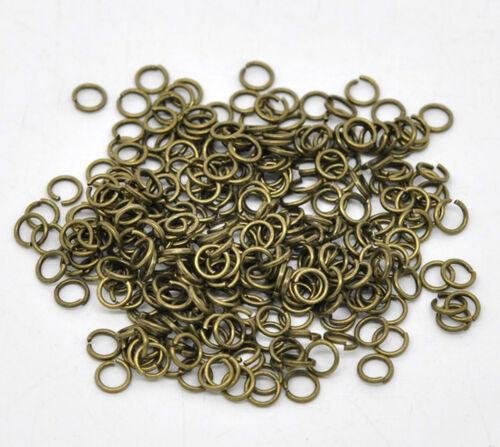 3 mm bis 9 mm open jump rings Federring # 10 Stück Biegeringe 2 Farben