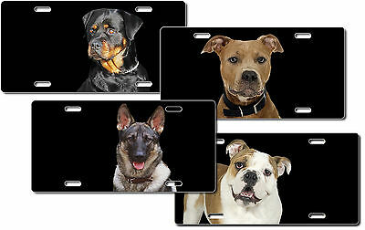 CUSTOM PERSONALIZED METAL LICENSE PLATE - DOGS - ADD ANY TEXT FREE