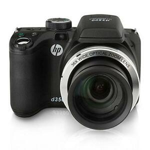 HP-D3500-14MP-36x-Optical-Zoom-Bridge-Digital-Camera-w-3-LCD-SLR-Style-Black