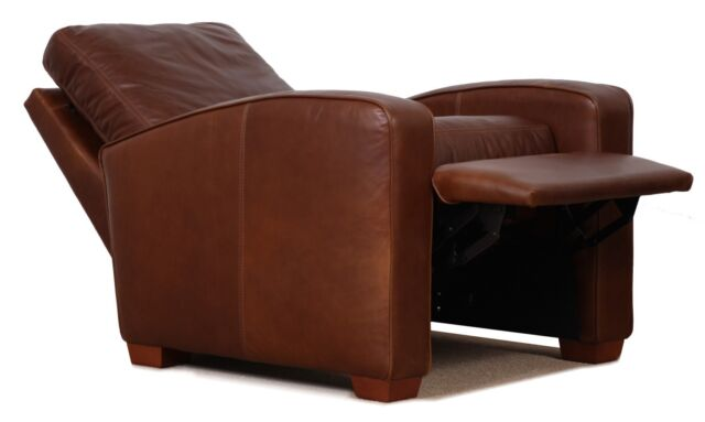 Genuine High End Leather Push Up Recliner Chair Art Deco Style