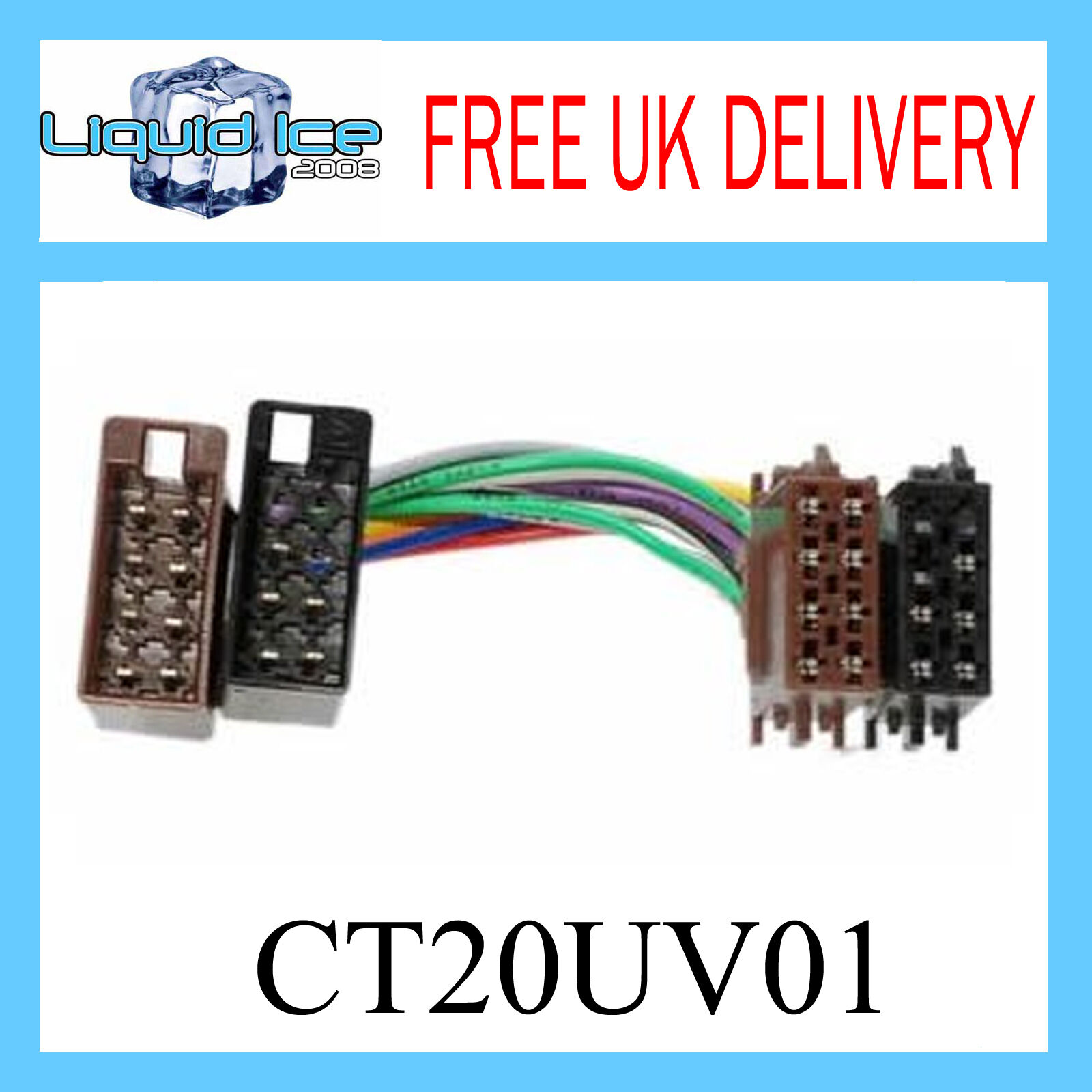 Terminals Wiring Quadlock Harness Ct20uv01 Citroen Berlingo 1998 Onwards Iso Head Unit Adaptor Lead