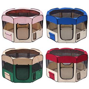 45-x45-x24-Medium-2-Door-Pet-Playpen-Exercise-Kennel-Soft-Tent-Puppy-Dog-Crate