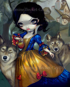 Jasmine-Becket-Griffith-art-print-SIGNED-Loup-Garou-Blanche-Neige-snow-white