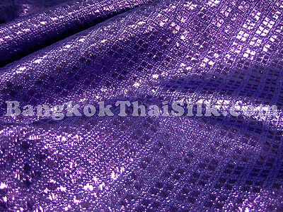 ROYAL PURPLE DIAMOND BROCADE FABRIC 2 TONES DRAPE DRESS EVENT WEDDING DECOR