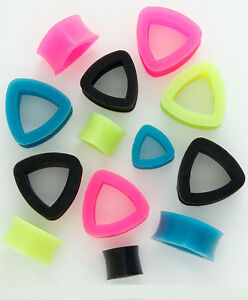 Pair-of-Triangle-Shaped-Earskin-Flexi-Silicone-Eyelet-Tunnels-LARGER-SIZES