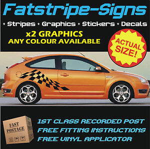 FORD FOCUS ST RS CHECKER VINYL CAR GRAPHICS STRIPES DECALS - Car decals designnew design full car body stickers for ford focus golf mg