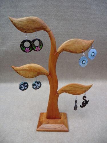 Holz Schmuckbaum Ohrringe Ohrhänger Display Ohrringständer Schmuckdisplay