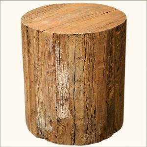 Unique Solid Hardwood Tree Trunk Natural Wood Round Step