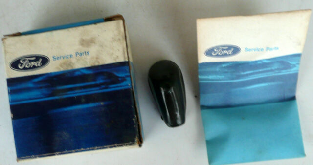 1965 NOS Full Size Ford Handle w/Attaching Parts Black Knob C5AZ-6261731-B