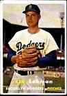 1957 Topps Ken Lehman Brooklyn Dodgers #366 Baseball Card