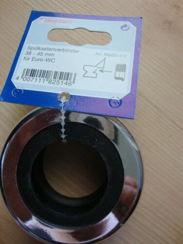 Spülkastenverbinder 38-45 mm für Euro-WC WC-Dichtung mit Rosette