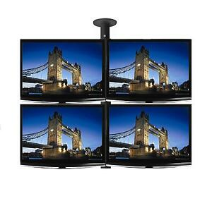 4-x-26-034-LCD-amp-LED-TV-Monitor-Single-Pole-Ceiling-Mount-Professional-Grade