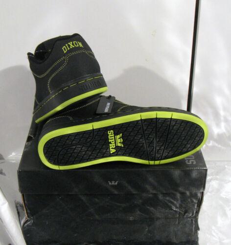 chaussure basket*SUPRA*DIXON cuir BLACK neon eu 40//US7//UK6 NEUF 85€ Sacrifié