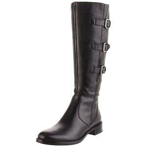 Ecco-Hobart-Chaussures-Femme-37-Bottes-Hautes-Cavalieres-Noir-Tall-Boots-UK4-New