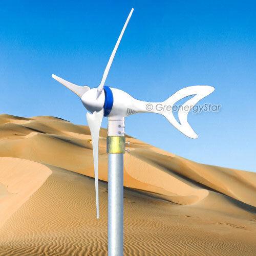 Megashark Max 650 Watt 24V DC Wind Turbine Generator 3 Blade +Rectifier New