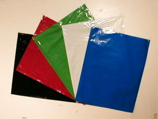 Color Gift Bag Flat Merchandise 12x15 Poly Bags (25)