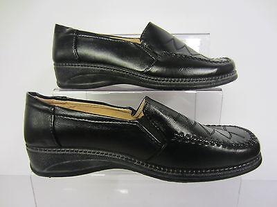 Sueve.s señoras Plana Comfort Zapato Negro