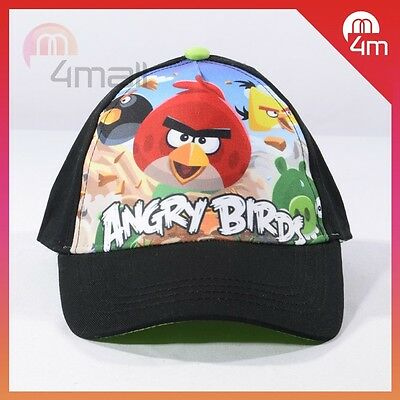New Kid's Boy's Black Angry Birds Baseball Base Ball Sun Summer Cap Hat Gift