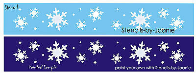 Primitive Seasonal Lg STENCIL White Christmas Snowflakes Holiday Border Art Sign