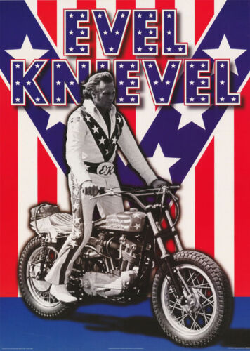 SPECIAL LISTING FOR 5 POSTERS : EVEL KNIEVEL ON HARLEY  - #PF2148 RC39 M