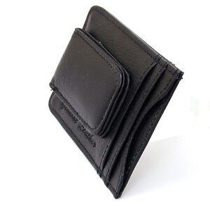 Mens-Leather-Money-Clip-Slim-Front-Pocket-Wallet-Magnetic-ID-Credit-Card-Holder