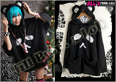 japan Lolita cartoon fantasy Picasso Chinese Panda hoodie poncho cape BK JCE0007