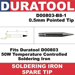 0-5mm-Pointed-Soldering-Iron-Spare-Tip-Fits-Duratool-D00803-Variable-Temperature