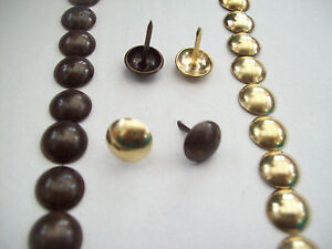Image Is Loading 100 X ANTIQUE BRASS CRAFTS FURNITURE UPHOLSTERY NAILS