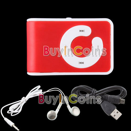 USB Mini Clip MP3 Player Micro Support Up To 1GB 2GB 4GB 8GB TF Card 5 Colors #C