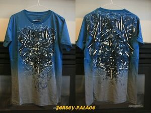 Affliction-Mens-BLUE-034-Live-Fast-034-T-Shirt-TEE-NWT-Size-M-L-XL-Free-Shipping