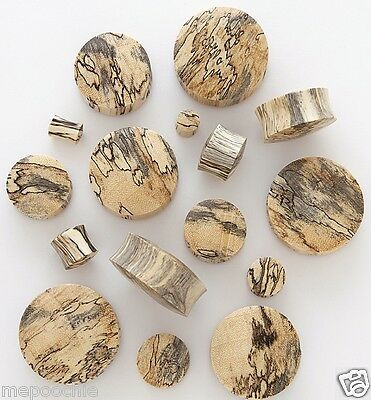 Plugs Pair of Double Flare Tamarind Wood Pick Your Size
