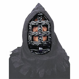 Medieval-Gothic-HOODED-EXECUTIONER-IRON-MASK-Steampunk-Cosplay-Costume-Accessory