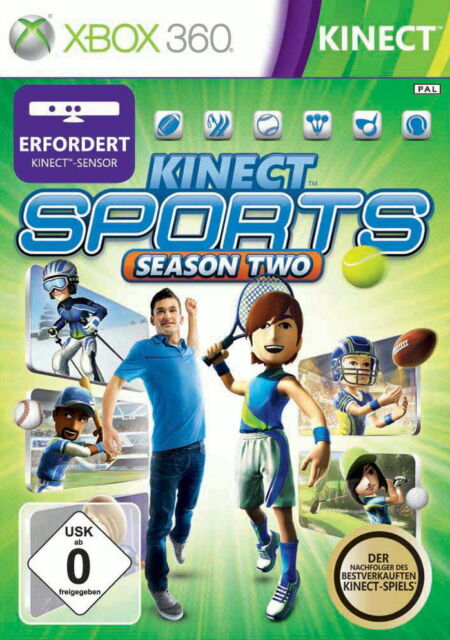 Kinect Sports: Season Two (Microsoft Xbox 360, 2011, DVD-Box)