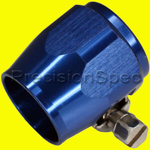 AN6-AN-6-15-5MM-BLUE-HOSE-CLAMP-COVER-FINISHER-BRAIDED-PTFE-SILICONE-FUEL-HOSE