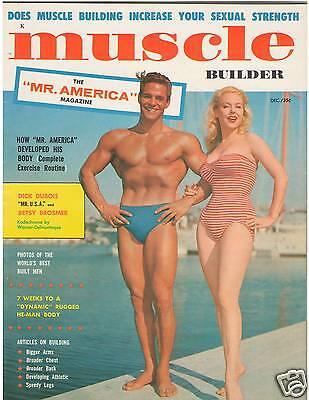 Muscle Builder Bodybuilding Magazine Betty Brosmer/Dick Dubois 12-57