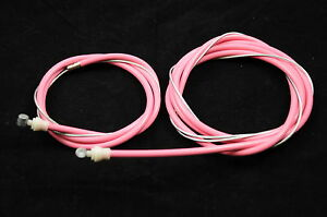 OLD-SCHOOL-BMX-OR-MODERN-BMX-PINK-FRONT-REAR-BRAKE-CABLE-SET-BARREL-END