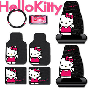 New hello kitty core auto car front seat cover floor mat - Hello kitty car interior accessories ...