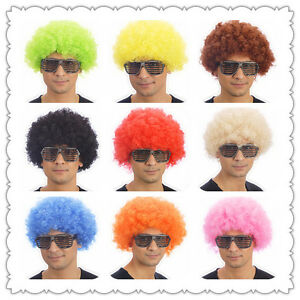 10-Colours-Curly-Afro-Fancy-Dress-Funky-Wig-Disco-Clown-Mens-Ladies-Costume