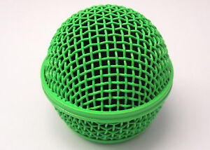 Hot-Vivid-Green-Microphone-Grille-Fits-Shure-SM58-and-Other-Similar-Microphones