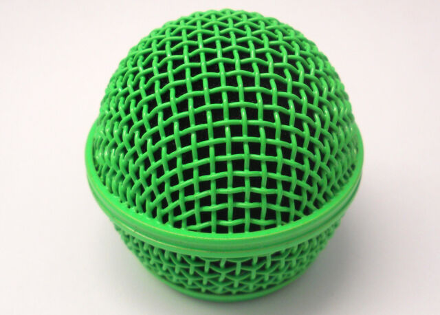 Hot Vivid Green Microphone Grille. Fits Shure SM58 and Other Similar Microphones
