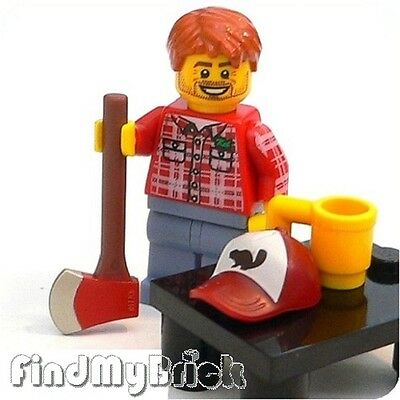 M709 Lego Minifigure 8805 - Lumberjack with Extra Utensils NEW