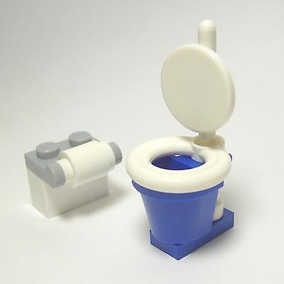 ☆NEW☆ Lego City / Town / Train Toilet & Paper Dispenser