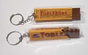 TOBLERONE-Yellow-Limited-Edition-KEYCHAIN-Keyring-Novelty-Chocolate-Bar